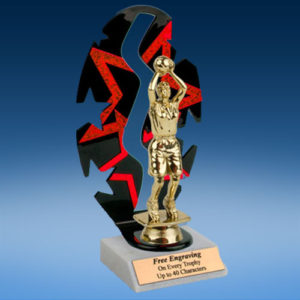 Basketball Sport Figure Backdrop Trophy-0