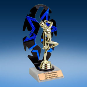 Dancing Sport Figure Backdrop Trophy-0
