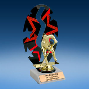 Hockey Sport Figure Backdrop Trophy-0