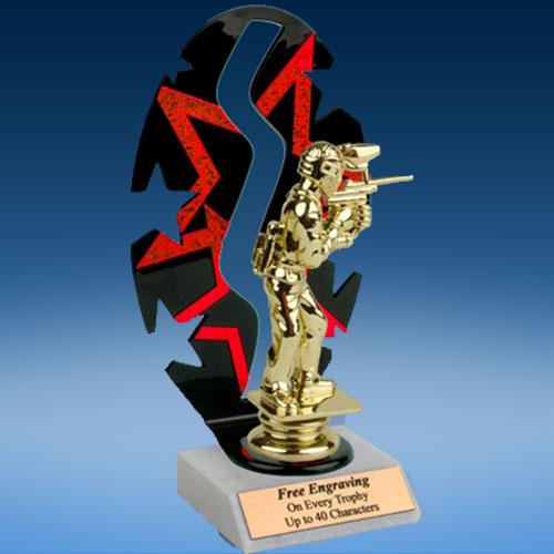 Paintball Sport Figure Backdrop Trophy-0