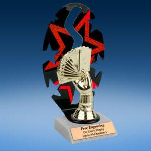 Poker Sport Figure Backdrop Trophy-0
