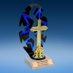 Religion Sport Figure Backdrop Trophy-0