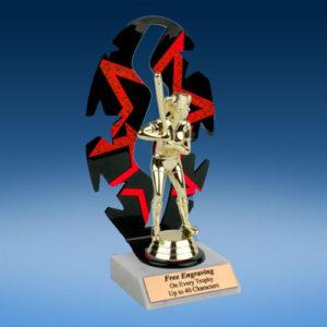 Softball Sport Figure Backdrop Trophy-0