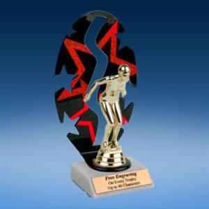 Swimming Sport Figure Backdrop Trophy-0