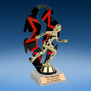 Track Sport Figure Backdrop Trophy-0