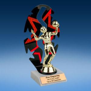 Volleyball Sport Figure Backdrop Trophy-0