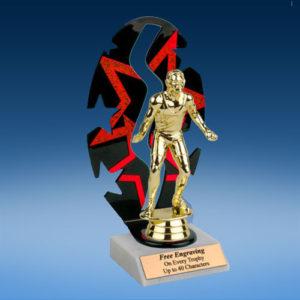 Wrestling Sport Figure Backdrop Trophy-0