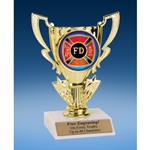 Fire Department Victory Cup Mylar Holder Trophy