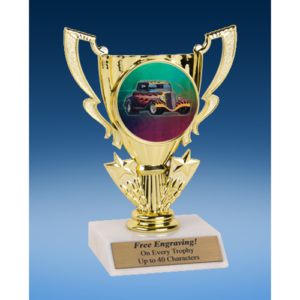 Hot Rod Victory Cup Mylar Holder Trophy