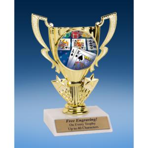 Poker Victory Cup Mylar Holder Trophy