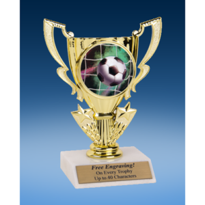Soccer Victory Cup Mylar Holder Trophy