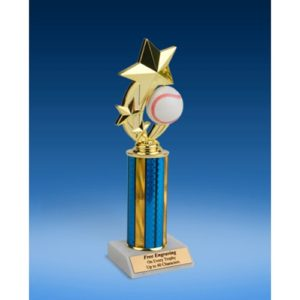 Baseball 3-Star Sport Spinner Trophy 10""