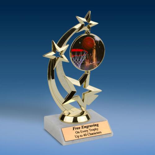 Basketball 2 Astro Spinner Trophy-0