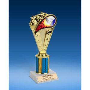 "Cheerleading Sport Flame Trophy 8"""