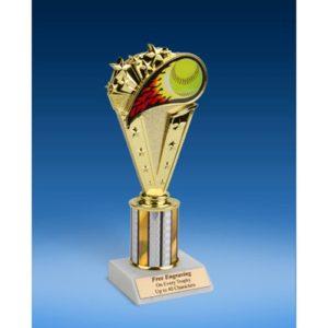 "Softball Sport Flame Trophy 8"""