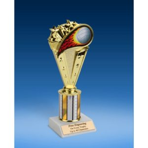 Volleyball Sport Flame Trophy 8""