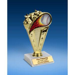 "Baseball Sport Flame Trophy 6"""