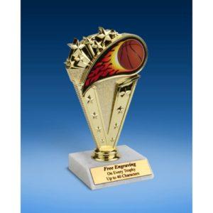 "Basketball Sport Flame Trophy 6"""