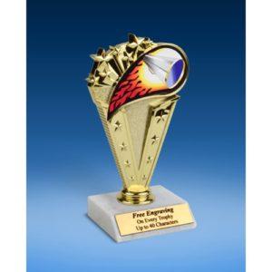 "Cheerleading Sport Flame Trophy 6"""
