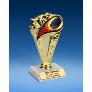 Hockey Sport Flame Trophy 6""
