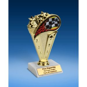 Racing Sport Flame Trophy 6""