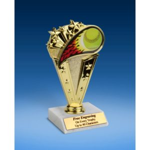 "Softball Sport Flame Trophy 6"""