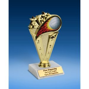 Volleyball Sport Flame Trophy 6""