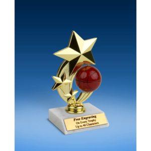 """Basketball 3-Star Sport Spinner Trophy 6"""""""