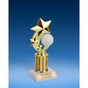"Golf 3-Star Sport Spinner Trophy 8"""