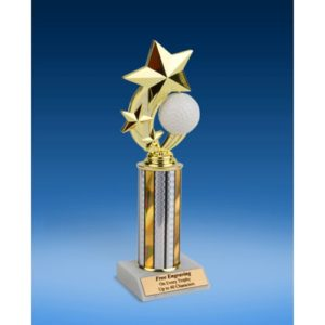Golf 3-Star Sport Spinner Trophy 10""