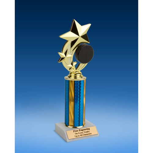 Hockey 3-Star Sport Spinner Trophy 10""
