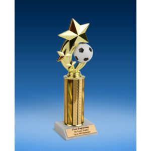 Soccer 3-Star Sport Spinner Trophy 10""