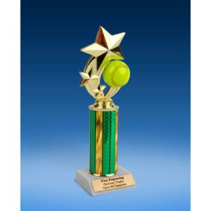 Softball 3-Star Sport Spinner Trophy 10""