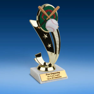 Baseball Colored Sport Scene Trophy-0