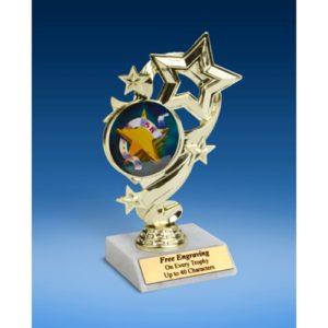 """5K Star Ribbon Trophy 6"""""""