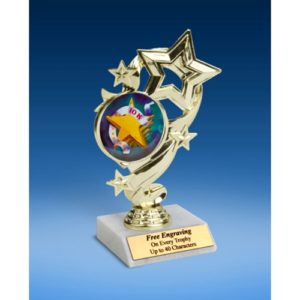 10K Star Ribbon Trophy 6""