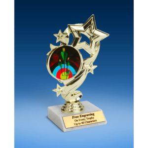 "Archery Star Ribbon Trophy 6"""