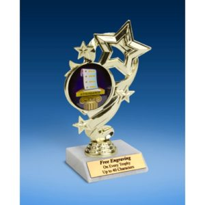 Attendance Star Ribbon Trophy 6""