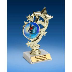 "BMX Star Ribbon Trophy 6"""