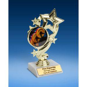 "Bodybuilding Star Ribbon Trophy 6"""