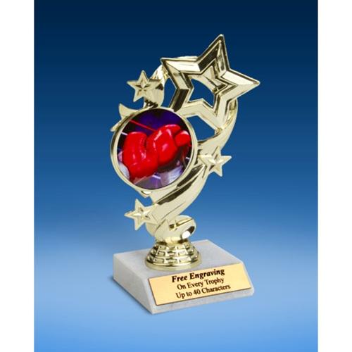"Boxing Star Ribbon Trophy 6"""