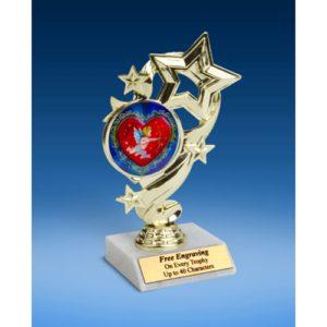 """Cupid Star Ribbon Trophy 6"""""""