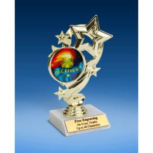 """Decathlon Star Ribbon Trophy 6"""""""