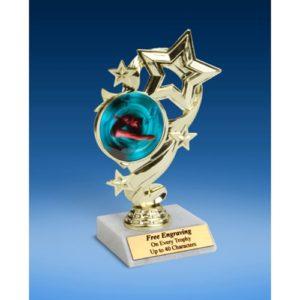 "Diving (Female) Star Ribbon Trophy 6"""