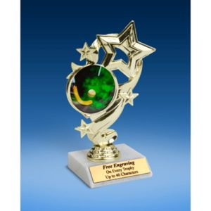 Field Hockey Star Ribbon Trophy 6""