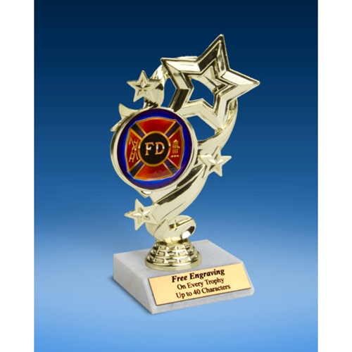 Fire Department Star Ribbon Trophy 6""