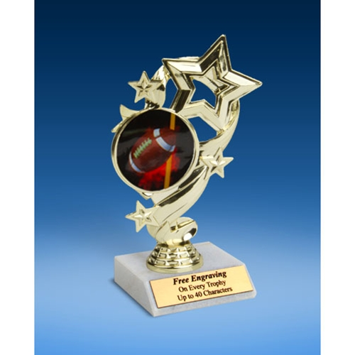 Football 1 Star Ribbon Trophy 6""