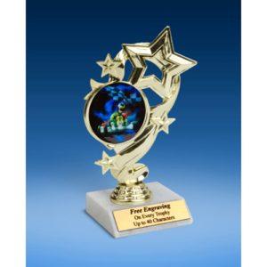 "Go Kart Star Ribbon Trophy 6"""
