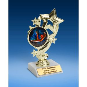 """Gymnastics (Female) Star Ribbon Trophy 6"""""""