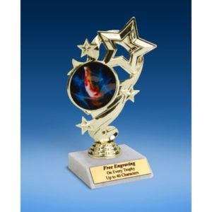 """Gymnastics (Male) Star Ribbon Trophy 6"""""""